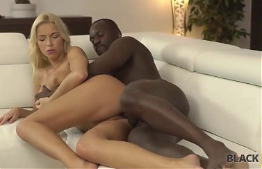 BLACK4K. Incredible interracial love of blonde model